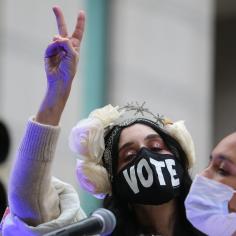 Scenes in Philadelphia, PA on Election Day - Nov. 2-3, 2020